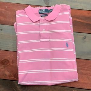 Polo by Ralph Lauren Pink & White XL Custom Fit